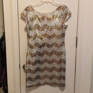 Gold/Silver Sequin Dress. White House Black Market